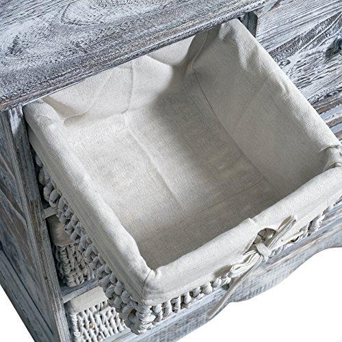 Rebecca srl comodino cassettiera mobile bagno 4 cassetti 1 anta ...