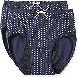 (アツギ)ATSUGI サニタリーショーツ 1 week Sanitary shorts 多い日長時間 【カジュアルスタイル】 ナイトシート 〈2枚セット〉 LL 3Lサイズ ネビー 3L