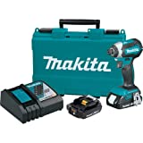 Makita XDT13R-R 18V LXT Lithium-Ion Brushless 1/4 in. Hex Impact Driver Kit (2.0 Ah) (Renewed)