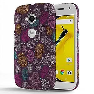 Koveru Designer Protective Back Shell Case Cover for Motorola Moto E - Hamsa