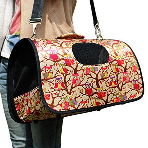 S Size Carry Bag Sweet Cute Pet Home Dog Cat Carrier House Travel—Owl