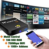 Android TV Box [2016 New Model] PigflyTech Ti6 Quad Core 2GB/16GB/4K/S812/802AC Android TV Box & Game Palyer with Kodi 16.1 Fully Unlocked Internet Streaming Media Player