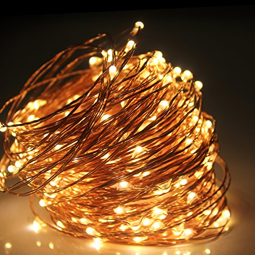 Moobibear 66ft Outdoor Dimmable LED Led String Lights Copper Wire, Starry Lights,Firefly Lights ...