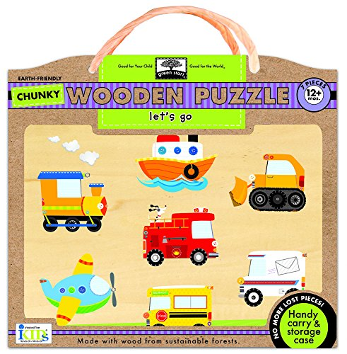 Innovative Kids Green Start Let's Go Chunky Wooden Puzzles