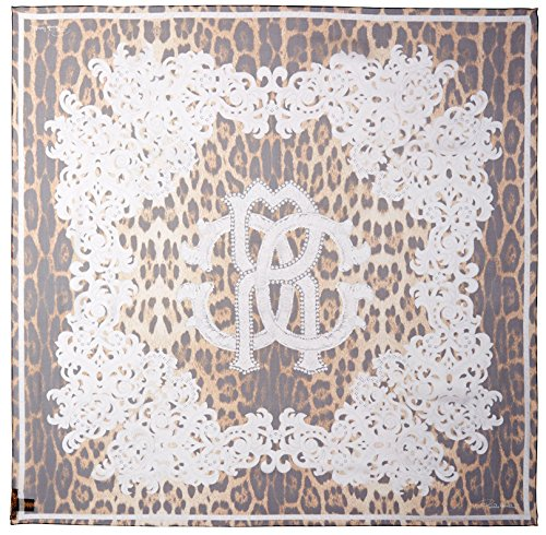 Roberto-Cavalli-Womens-Patterned-Silk-Scarf-Multi