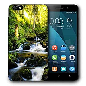 Snoogg Water Flowing Printed Protective Phone Back Case Cover For Huawei Honor 4X