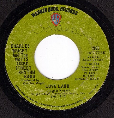 Love Land Sorry Charlie (VG 45 rpm) by Charlie Wright And The Watts 103rd Street Rhythm Band