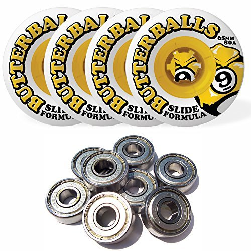 sector-9-butterballs-slide-formula-65mm-80a-longboard-wheels-set-of-4-with-bearings-by-sector-9