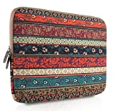 PLEMO Bohemian Style Canvas Fabric Netbook / Laptop / Notebook Computer / MacBook / MacBook Pro / MacBook Air Sleeve Case Bag Cover, Mystic Forest