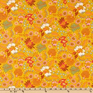 54'' Wide Anna Maria Horner Little Folks Voile Coloring Garden Citrus Fabric By The Yard
