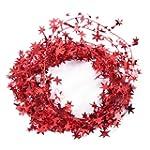 23 Feet Glittering Red-Star Shaped Ti...