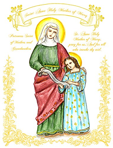 """11"""" X 14"""" St Anne Holy Mother Of Mary Patroness Saint Of Mothers And Grandmothers Art Print front-968736"""