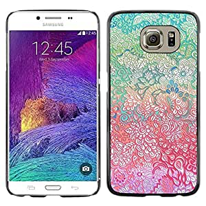 Omega Covers - Snap on Hard Back Case Cover Shell FOR Samsung Galaxy S6 - Flowers Fine Detailed Pretty Girl
