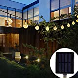 Outdoor Solar String Light garland ,30LED Fairy String Lights Bubble Crystal Ball Lights Decorative Lighting for Indoor, Garden, Home, Patio, Lawn, Party ,Holiday ,Ooutdoor Decor(20FT warm white)