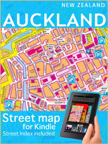 Map of Auckland (Maps of New Zealand)