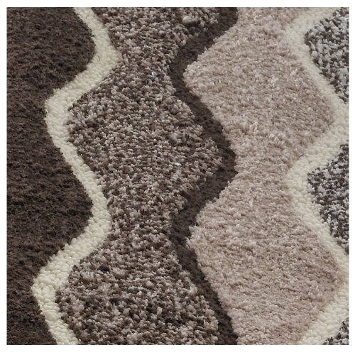 Regence Home Designed Sculptured Spray Late by Back Bath Rug, 17 X 24-Inch, Chocolate/Multi