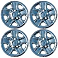 "Set of 4 Chrome 18"" Hub cap Wheel Skins w Center: 2007- 2014 Toyota Tundra 18x8 Inch 5 Lug Steel Rim -aftermarket: IMP/77X"