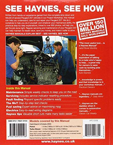 Peugeot 207 Petrol and Diesel Service and Repair Manual: 2006 to 2009 (Haynes Service and Repair Manuals)
