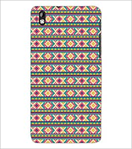 PrintDhaba Pattern D-5206 Back Case Cover for HTC DESIRE 816 (Multi-Coloured)
