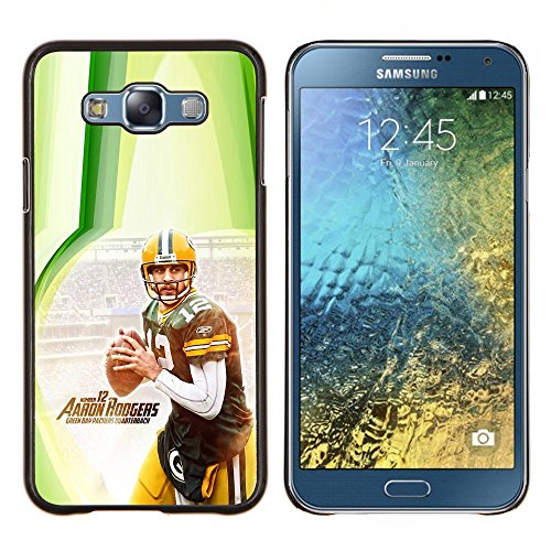 Aaron Rodger 12 NFL - Aluminum Metal & plastica dura Phone caso - nero - Samsung Galaxy E7 / SM-E700