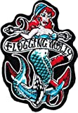 Flogging Molly - Mermaid Logo - Embroidered Iron On or Sew On Patch