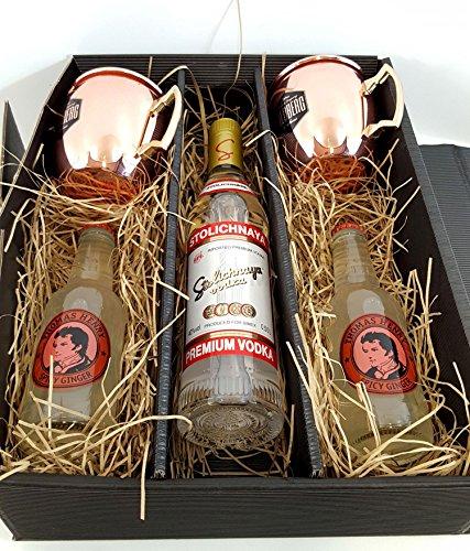 moscow-mule-set-geschenkset-stolichnaya-vodka-05l-40-vol-2x-goldberg-kupferbecher-2x-thomas-henry-sp