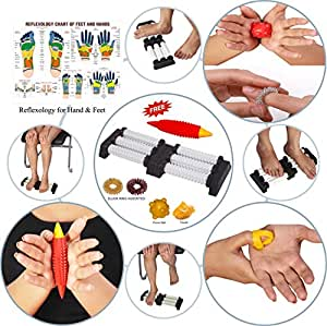 Super India Store Acupressure n Massager SPIKED Double Foot Roller for Pain Relief and Total Health Useful for Stress Relief Boost Immunity Heel Pain Knee Pain Leg Pain Sciatica Cramps Migraine