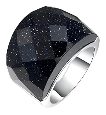 Generic Women's Agate Thick Wedding Ring