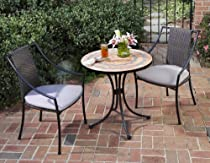 Big Sale Home Style 5603-340 3-Piece Outdoor Bistro Set, Terra Cotta Finish