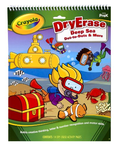 Crayola Dry Erase Activity Tablet Deep Sea Dot To Dots And More - 1
