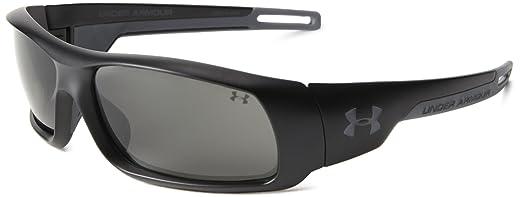 Under Armour Hammer Polarized Wrap Sunglasses, Black, 54 mm