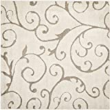 Safavieh Florida Shag Collection SG455-1113 Cream and Beige Square Area Rug, 8-Feet