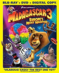 Madagascar 3: Europe&#39;s Most Wanted (Blu-ray/DVD Combo + Digital Copy)