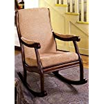 Furniture Of America IDF-AC6408 Liverpool Rocking Chair - Antique Oak