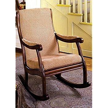 Furniture Of America IDF-AC6408 Liverpool Rocking Chair - Antique Oak