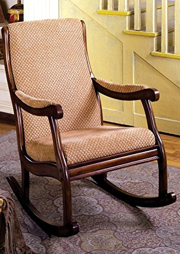 Furniture Of America IDF-AC6408 Liverpool Rocking Chair - Antique Oak 0