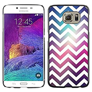 Omega Covers - Snap on Hard Back Case Cover Shell FOR Samsung Galaxy S6 - Purple Teal Space Reflective Fashion
