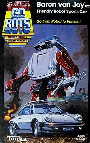 Super GoBots Baron Von Joy Friendly Robot Sports Car Porsche 930 Turbo Vintage 1985 Action Figure (Super Robot Baron compare prices)