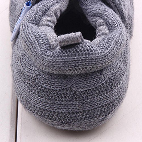 Fheaven Fashion Autumn and Winter Warm Baby Shoes Sneaker Anti-slip Soft Sole Toddler Shoes (US:3, Gray)