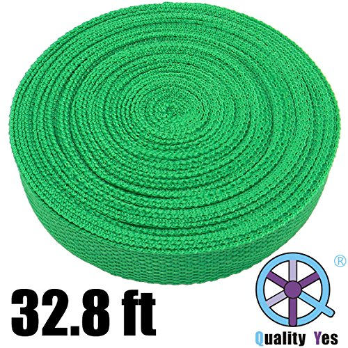Qy Green Color 10M 32.8Ft Polypro Webbing Nylon Heavy Webbing Outdoor Rescue Rope front-113046