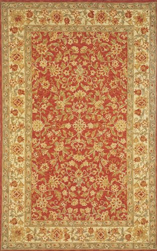 "8' x 11' Rectangular Momeni OLDWOOW-04RSE80B0 Rose Color Hand Hooked Chinese ""Old World Collection"" Rug"