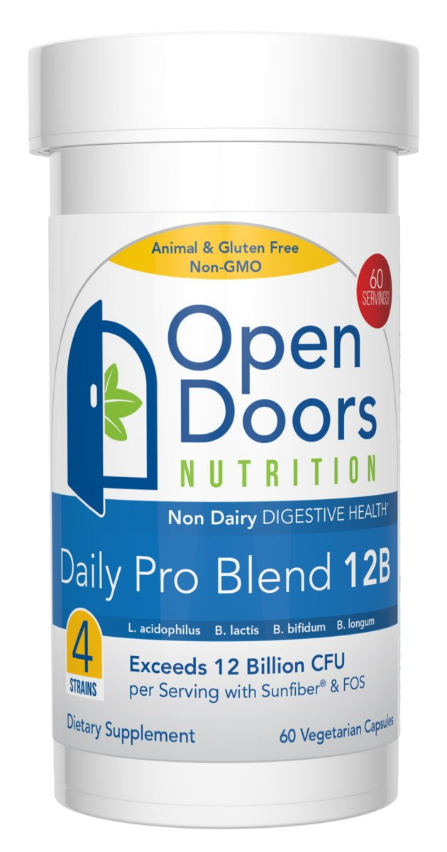 Probiotic Supplement Daily Pro Blend 12B OpenDoors Nutrition