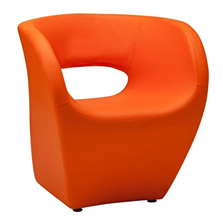 Protege Homeware Orange Leather Effect Aldo Chair