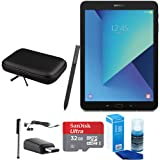 Samsung Galaxy Tab S3 9.7 Inch Tablet with S Pen - Black - 32GB Accessory Bundle includes 32GB MicroSDHC Memory Card, Case for Tablets, Stylus, USB-C Adapter, Screen Cleaner and Earbuds (Color: Black)