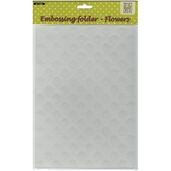 Ecstasy Crafts Nellie's Choice A4 Embossing Folder-Flowers, 8.25 by 11.875-Inch (Tamaño: 8.25 by 11.875-Inch)