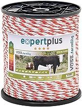 Cordón conductor para pastor eléctrico 200m, 6mm, 1x0,30 Cobre + 5x0,20 Inox, blanco-rojo