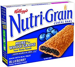 Nutri-Grain Cereal Bars, Blueberry, 8-Count Bars (Pack of 6)
