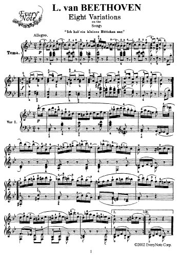 Beethoven 8 Variations on the Song
