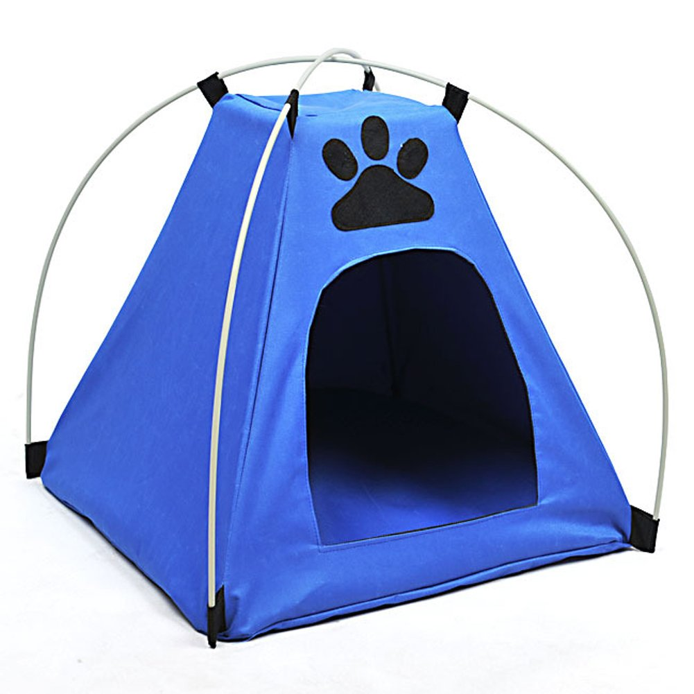 Kitten Puppy Mini Nylon Camp Tent Bed Cat Play House Dog Tent