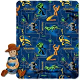 Disney, Toy Story, Action Woody 40-Inch-by-50-Inch Fleece Blanket with Character Pillow by The Northwest Company